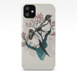 Magpies on Oak iPhone Case