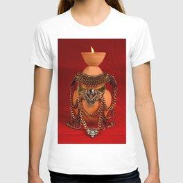 Jeweled pottery vase T-shirt