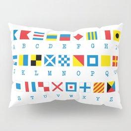 Nautical Flags Maritime Signals Alphabet Pillow Sham