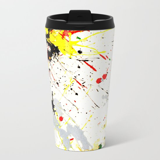 Paint Splatter Metal Travel Mug