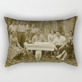 Picnic in the Woods Rectangular Pillow