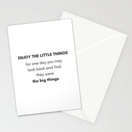 ENJOY THE LITTLE THINGS - GRATITUDE Stationery Cards