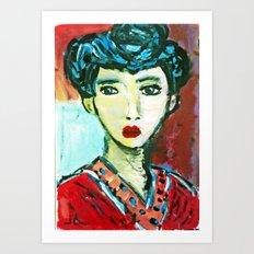 LADY MATISSE IN TEEN YEARS Art Print