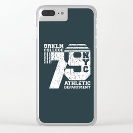 Vintage T-shirt Stamp - College NYC 79 Clear iPhone Case