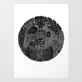 Animals Art Print