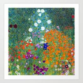 Gustav Klimt Flower Garden Art Print