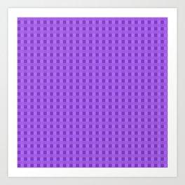 Retro Purple Squares Art Print
