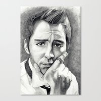 lee pace Canvas Prints featuring Lee Pace by Ashley Marie Morrison