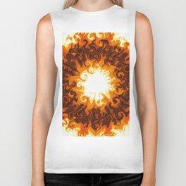 Ball of Hot gas (sun swirls) Biker Tank