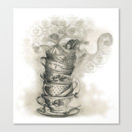 Tea bath Canvas Print