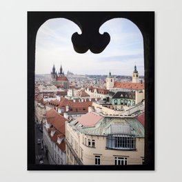 Window to Prague Canvas Print