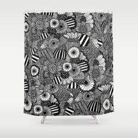 zen Shower Curtains featuring Zen by Juana Gatti