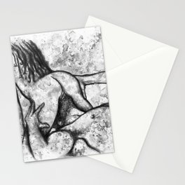 Hot Breakfast black&white - Erotic Art Illustration Nude Sex Sexual Love Lovers Relationship Couple Stationery Cards