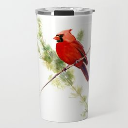 Cardinal Bird, Christmas decor gift Travel Mug