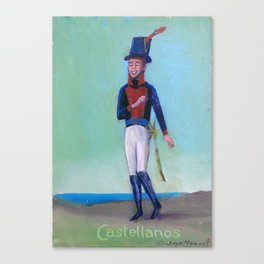 Soldado del Regimiento Castellanos Canvas Print