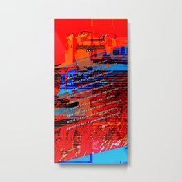 Cells Interlinked - Bold Red and Blue Metal Print