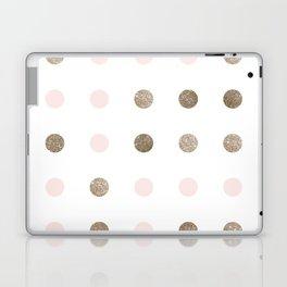 Blush Pink Modern Dots Laptop & iPad Skin
