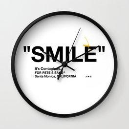 """SMILE"" Wall Clock"