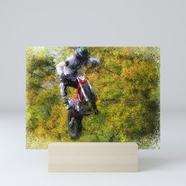 Extreme Biker - Dirt Bike Rider Mini Art Print