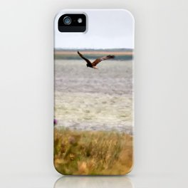 Harrier over the field iPhone Case