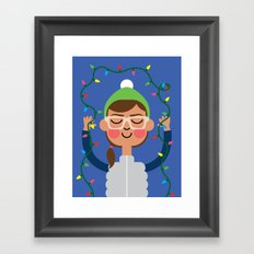 Holiday with Lights Framed Art Print