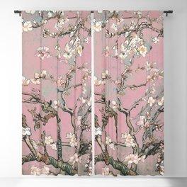 Almond Blossom - Vincent Van Gogh (pink pastel) Blackout Curtain