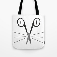 scissors cat Tote Bag