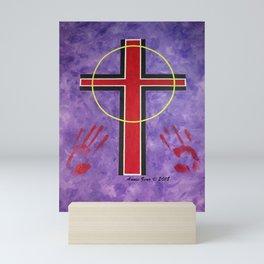The Cross Of Salvation By Annie Zeno Mini Art Print