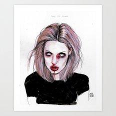 Angelina J Art Print
