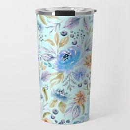 Watercolor Floral Garden Travel Mug