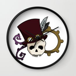 Steampunk Skull Wall Clock
