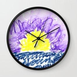 here comes the sun III Wall Clock
