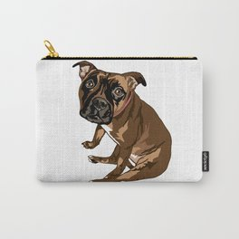 Avery the Boxer Pug Cross Carry-All Pouch