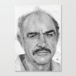Sean Connery Traditional Portrait Print Canvas Print