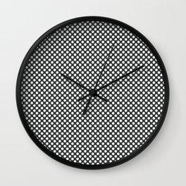 Pirate Black and White Polka Dots Wall Clock
