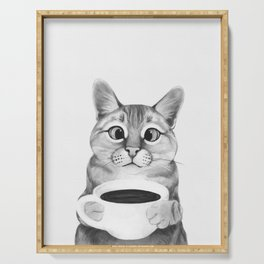 coffee cat Serving Tray