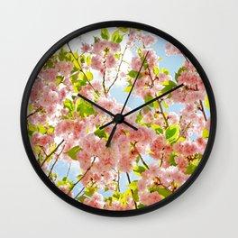Spring Blossom III Wall Clock