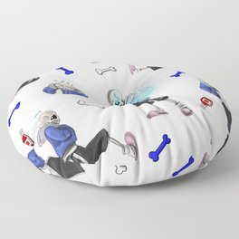 Sans doodles Floor Pillow