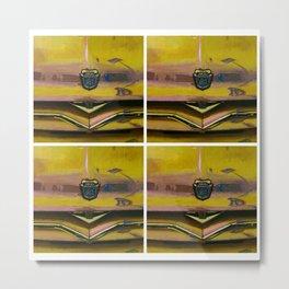 Ford 8 Classic Truck Art - Saffron Yellow Metal Print