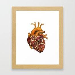 Blood Orange Heart (over heart) Framed Art Print