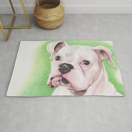 The White Boxer Rug