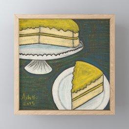 Lemon Cake Framed Mini Art Print