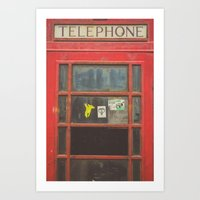 telephone Art Prints featuring Telephone by Benjamin Robles Art