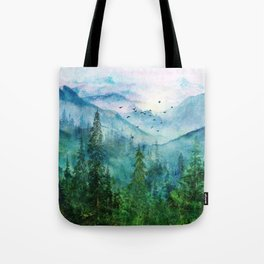 Spring Mountainscape Tote Bag
