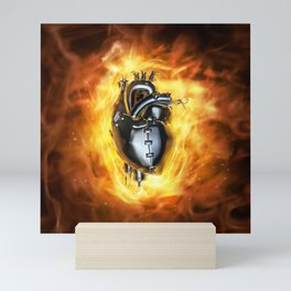 Heavy metal heart Mini Art Print