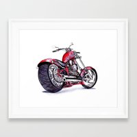 harley Framed Art Prints featuring Harley by Sloe Illustrations