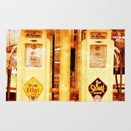 Vintage Gas Pumps :) Rug