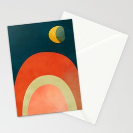 mid century geometric abstract autumn 2 Stationery Cards