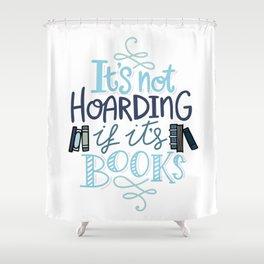 Hoarding Books Blue - Book Nerd Shower Curtain