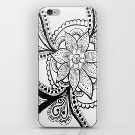 flower zentangle iPhone Skin